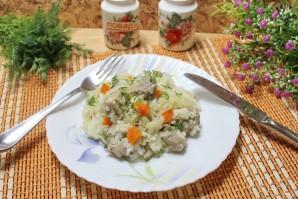 Рис с капустой и мясом - фото шаг 12