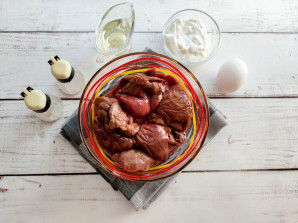 Диетические оладьи из куриной печени - фото шаг 1