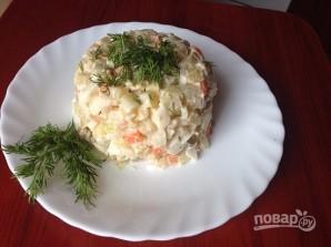 Салат из кальмаров с яйцами - фото шаг 8