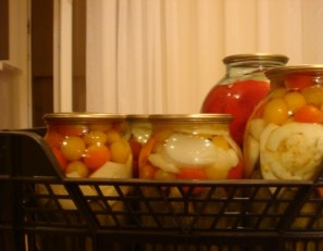 Патиссоны, консервированные с помидорами - фото шаг 3