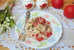 Салат с индейкой, помидором и сыром - фото шаг 7