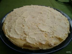 Блинный пирог с творогом - фото шаг 3