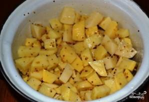 Картошка, запеченная с горчицей - фото шаг 4