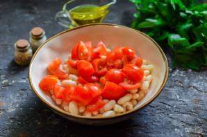 Салат с мидиями и фасолью - фото шаг 5