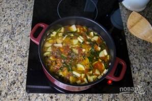 Перуанский суп с овощами и фасолью - фото шаг 11