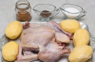 Курица, запеченная с анисом - фото шаг 1