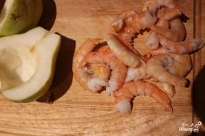 Груша, запеченная с креветками и сыром - фото шаг 3