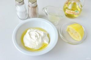 Куриный салат с лимоном и йогуртом - фото шаг 3
