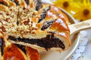 Пирог с шоколадной пастой, маком и орехами - фото шаг 11