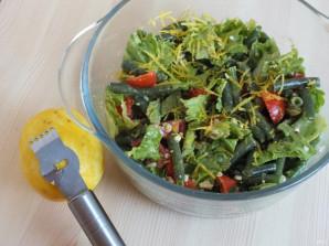 Салат из зеленой фасоли с орехами - фото шаг 3