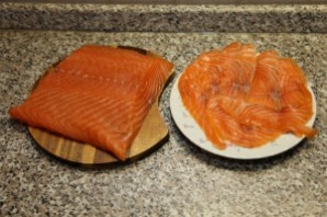 Блинчики с лососем и сыром - фото шаг 6