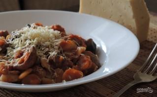 Фасоль с грибами в томатном соусе - фото шаг 8