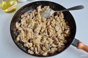 Картофельный пирог с грибами и сыром - фото шаг 5
