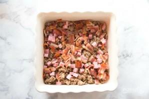 Мясной омлет в духовке - фото шаг 1
