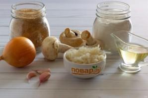 Рисовые зразы с грибами - фото шаг 1