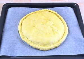 Пирог с луком и яйцом на кефире - фото шаг 4