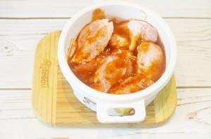 Куриные крылышки в остром томатно-яблочном маринаде - фото шаг 5