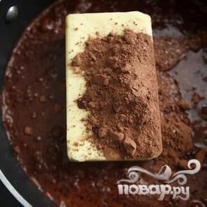 Шоколадный кекс со сливочной глазурью - фото шаг 1