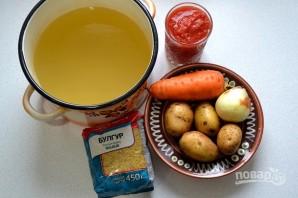 Томатный суп с булгуром - фото шаг 1