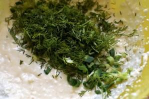 Творожная запеканка с зеленью и сыром - фото шаг 2