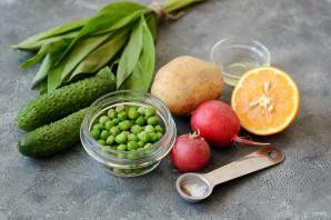 Постный салат с черемшой - фото шаг 1