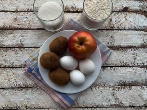Шарлотка с яблоками и киви - фото шаг 1