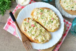 Бутерброды с крабовыми палочками и плавленым сыром - фото шаг 11
