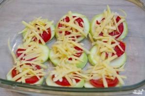 Кабачки с помидорами и сыром в духовке - фото шаг 4