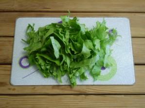 Салат зеленый - фото шаг 3