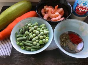 Овощи с королевскими креветками - фото шаг 1