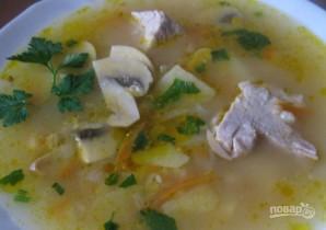 Суп со свининой и шампиньонами - фото шаг 10