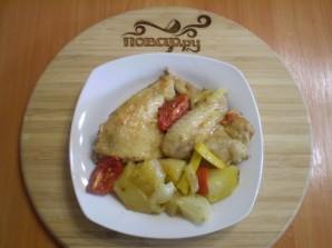 Курица, запеченная с картофелем и овощами - фото шаг 7