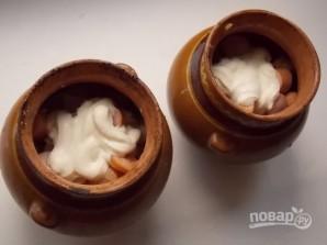 Картошка с сосисками в горшочках - фото шаг 6