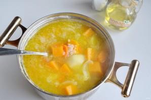 Тыквенный суп с моцареллой - фото шаг 6