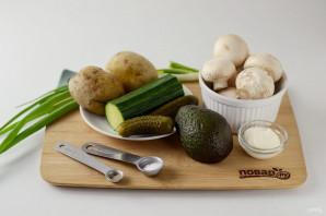 Салат с шампиньонами жареными - фото шаг 1