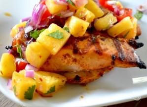 Курица на гриле с ананасовой сальсой - фото шаг 5