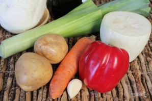 Овощной суп-пюре с брынзой - фото шаг 1