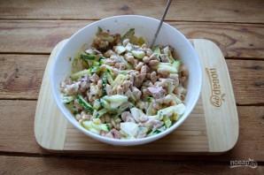 Салат из печени трески с фасолью - фото шаг 5