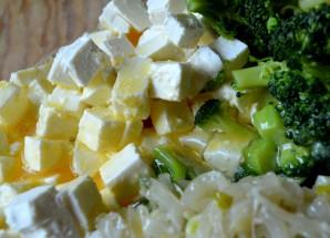 Киш с брокколи и сыром фета - фото шаг 5