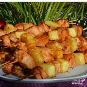 Куриный шашлык с ананасом - фото шаг 6