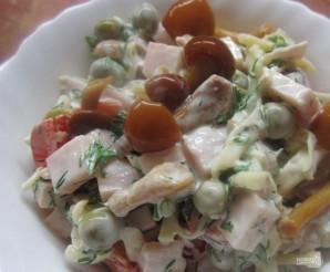 Салат из опят маринованных - фото шаг 5