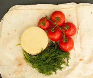 Лаваш с адыгейским сыром и зеленью - фото шаг 1