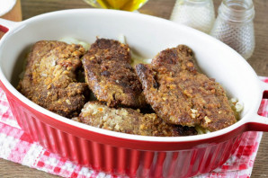 Говяжья печень запеченная в молоке - фото шаг 7