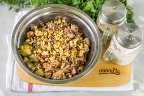 Салат с мясом и грецкими орехами - фото шаг 3