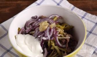 Салат мясной с говядиной - фото шаг 3