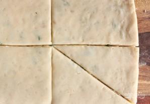 Картофельные уголки с сыром и зеленым луком - фото шаг 8