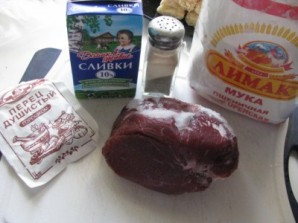 Гуляш из говядины со сливками - фото шаг 1