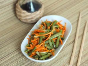 Корейский салат с зеленой фасолью - фото шаг 8