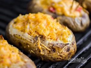 Рецепт запеченного картофеля с сыром - фото шаг 3