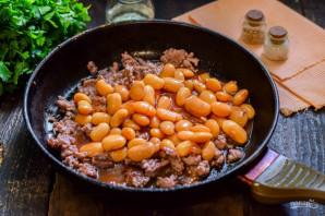 Фарш с фасолью в томатном соусе - фото шаг 4